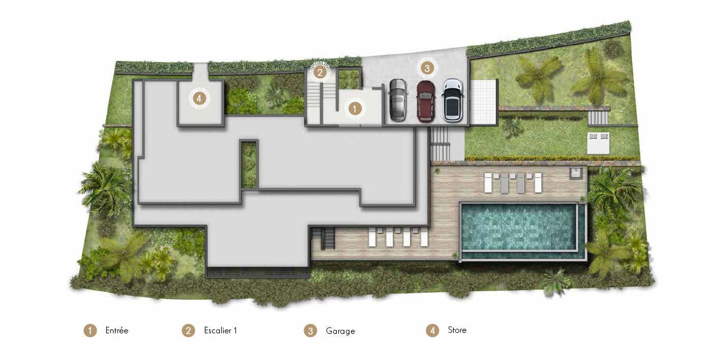 Plan Villa Blackstone Rdc