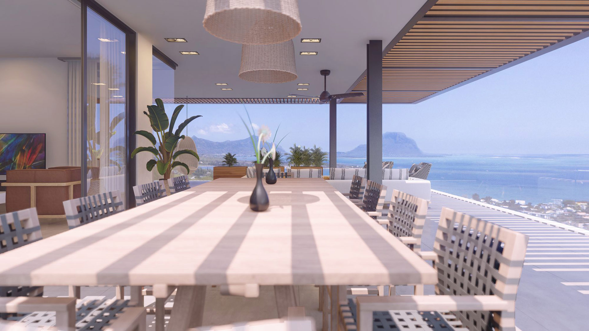 Legend Hill Penthouse Dining Room View Morne